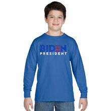 Load image into Gallery viewer, LA Pop Art Boy's Word Art Long Sleeve - Biden 2020