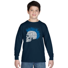 Load image into Gallery viewer, LA Pop Art Boy's Word Art Long Sleeve - Punk Mohawk