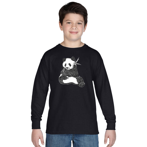 LA Pop Art Boy's Word Art Long Sleeve - Endangered SPECIES