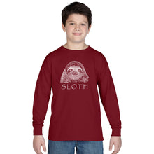 Load image into Gallery viewer, Limited Supply - LA Pop Art Boy's Word Art Long Sleeve - Sloth
