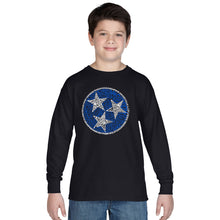 Load image into Gallery viewer, LA Pop Art Boy's Word Art Long Sleeve - Tennessee Tristar