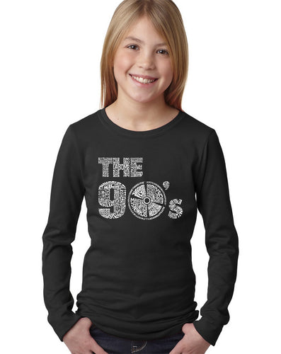 LA Pop Art Girl's Word Art Long Sleeve - 90S