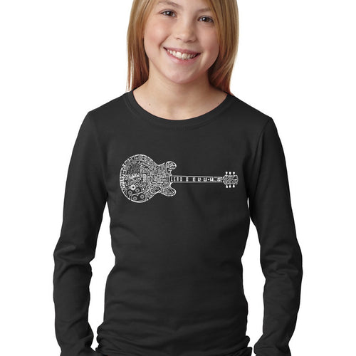 LA Pop Art Girl's Word Art Long Sleeve - Blues Legends