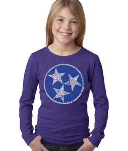 LA Pop Art Girl's Word Art Long Sleeve - Tennessee Tristar