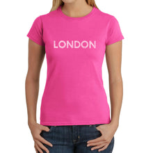 Load image into Gallery viewer, LA Pop Art Women's Word Art T-Shirt - LONDON NEIGHBORHOODS