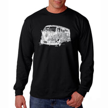 Load image into Gallery viewer, LA Pop Art Men's Word Art Long Sleeve T-shirt - THE 70'S