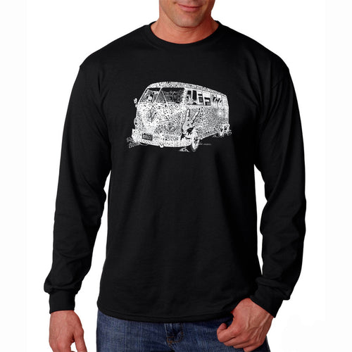 LA Pop Art Men's Word Art Long Sleeve T-shirt - THE 70'S