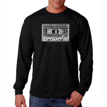 Load image into Gallery viewer, LA Pop Art Men's Word Art Long Sleeve T-shirt - The 80's