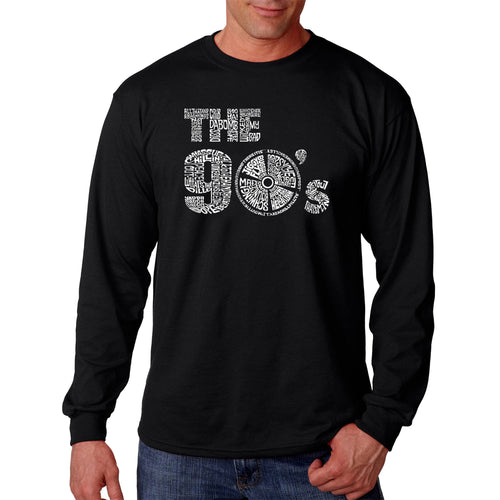 LA Pop Art Men's Word Art Long Sleeve T-shirt - 90S