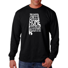 Load image into Gallery viewer, LA Pop Art Men's Word Art Long Sleeve T-shirt - Sweet Home Alabama