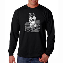 Load image into Gallery viewer, LA Pop Art Men's Word Art Long Sleeve T-shirt - ASTRONAUT