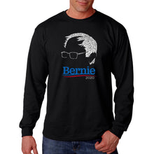 Load image into Gallery viewer, LA Pop Art Men's Word Art Long Sleeve T-shirt - Bernie Sanders 2020