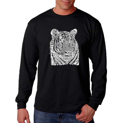LA Pop Art  Men's Word Art Long Sleeve T-shirt - Big Cats