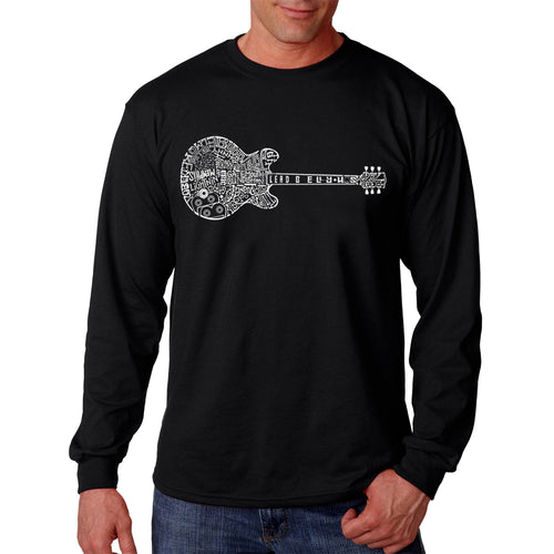 LA Pop Art  Men's Word Art Long Sleeve T-shirt - Blues Legends