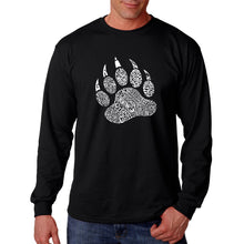 Load image into Gallery viewer, LA Pop Art  Men's Word Art Long Sleeve T-shirt - Types of Bears