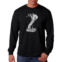 Load image into Gallery viewer, LA Pop Art  Men's Word Art Long Sleeve T-shirt - Types of Snakes