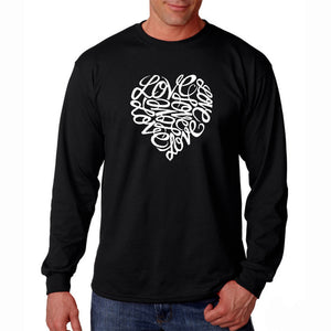 LA Pop Art Men's Word Art Long Sleeve T-shirt - LOVE