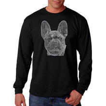 Load image into Gallery viewer, LA Pop Art Men's Word Art Long Sleeve T-shirt - French Bulldog