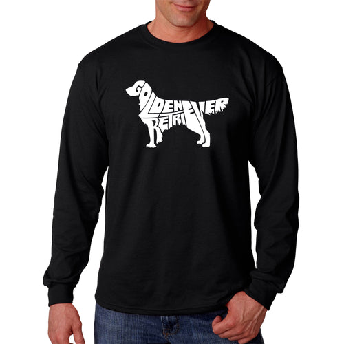 LA Pop Art  Men's Word Art Long Sleeve T-shirt - Golden Retreiver
