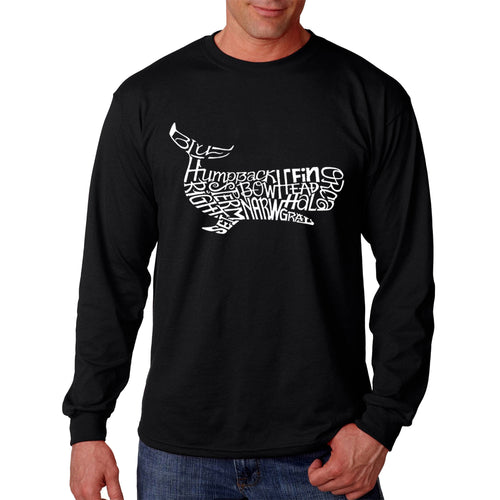 LA Pop Art  Men's Word Art Long Sleeve T-shirt - Humpback Whale