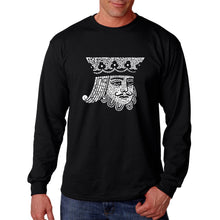 Load image into Gallery viewer, LA Pop Art Men's Word Art Long Sleeve T-shirt - King of Spades