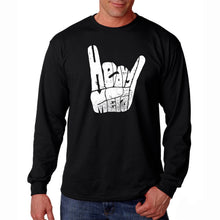 Load image into Gallery viewer, LA Pop Art Men's Word Art Long Sleeve T-shirt - Heavy Metal
