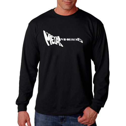 LA Pop Art Men's Word Art Long Sleeve T-shirt - Metal Head