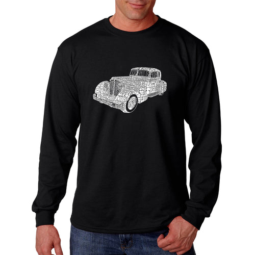 LA Pop Art Men's Word Art Long Sleeve T-shirt - Mobsters