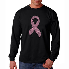 Load image into Gallery viewer, LA Pop Art Men's Word Art Long Sleeve T-shirt - CREATED OUT OF 50 SLANG TERMS FOR BREASTS