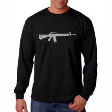 Load image into Gallery viewer, LA Pop Art Men's Word Art Long Sleeve T-shirt - RIFLEMANS CREED