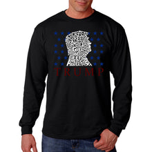 Load image into Gallery viewer, LA Pop Art Men's Word Art Long Sleeve T-shirt - Keep America Great