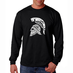 LA Pop Art Men's Word Art Long Sleeve T-shirt - SPARTAN