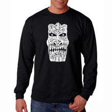 Load image into Gallery viewer, LA Pop Art Men's Word Art Long Sleeve T-shirt - TIKI - BIG KAHUNA
