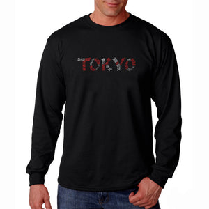LA Pop Art Men's Word Art Long Sleeve T-shirt - THE NEIGHBORHOODS OF TOKYO