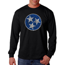Load image into Gallery viewer, LA Pop Art Men's Word Art Long Sleeve T-shirt - Tennessee Tristar