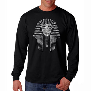 LA Pop Art Men's Word Art Long Sleeve T-shirt - KING TUT