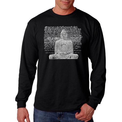 LA Pop Art Men's Word Art Long Sleeve T-shirt - Zen Buddha