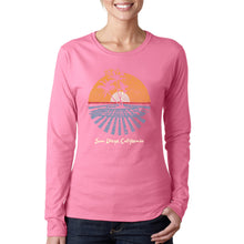 Load image into Gallery viewer, LA Pop Art Women's Word Art Long Sleeve T-Shirt - Cities In San Diego