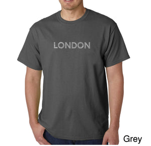 LA Pop Art Men's Word Art T-shirt - LONDON NEIGHBORHOODS