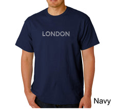 Load image into Gallery viewer, LA Pop Art Men's Word Art T-shirt - LONDON NEIGHBORHOODS