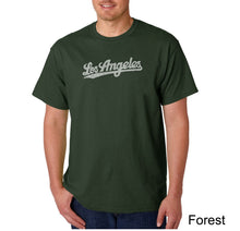 Load image into Gallery viewer, LA Pop Art Men's Word Art T-shirt - LOS ANGELES NEIGHBORHOODS