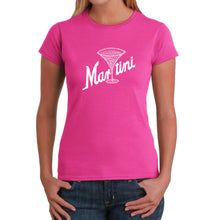 Load image into Gallery viewer, LA Pop Art Women's Word Art T-Shirt - Martini