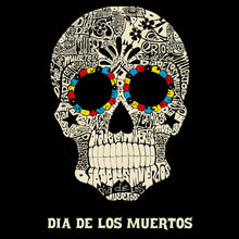 Load image into Gallery viewer, LA Pop Art Men's Word Art Hooded Sweatshirt - Dia De Los Muertos