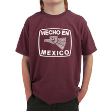 Load image into Gallery viewer, LA Pop Art Boy's Word Art T-shirt - HECHO EN MEXICO