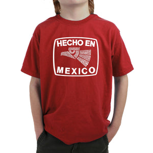 LA Pop Art Boy's Word Art T-shirt - HECHO EN MEXICO