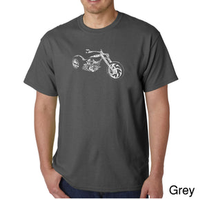 LA Pop Art Men's Word Art T-shirt - MOTORCYCLE