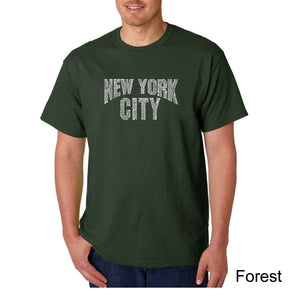 LA Pop Art Men's Word Art T-shirt - NYC NEIGHBORHOODS