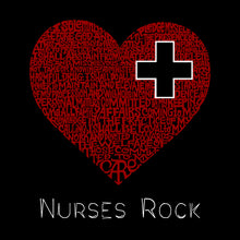 Load image into Gallery viewer, LA Pop Art Full Length Word Art Apron - Nurses Rock