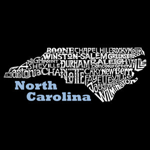 LA Pop Art Men's Word Art Tank Top - North Carolina