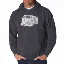 Load image into Gallery viewer, LA Pop Art Men's Word Art Hooded Sweatshirt - THE 70'S